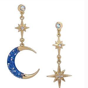 Betsey Johnson Celestial Mismatch Drop Earrings